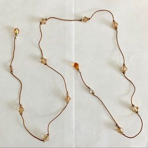 EUC Lariat with Swarovski Crystals